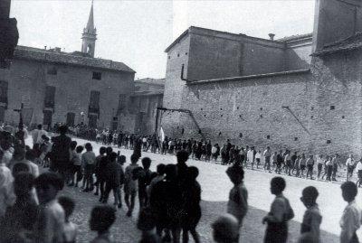 Il cortile dell'Oratorio S. Rocco (1930–1936)